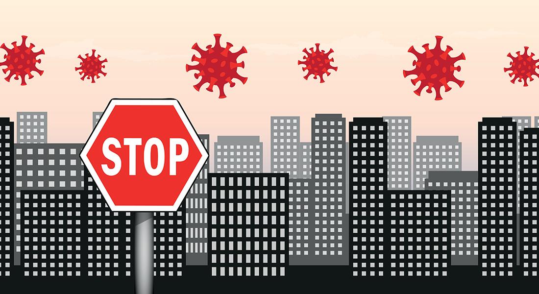 Stop corona. Foto: Colourbox