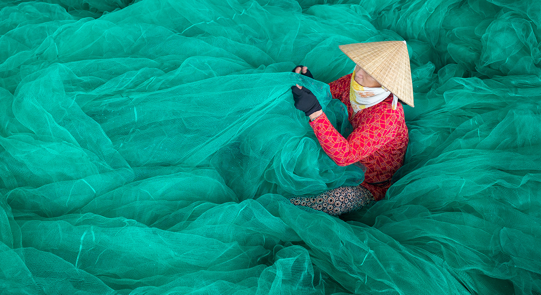 Vietnamese fisher
